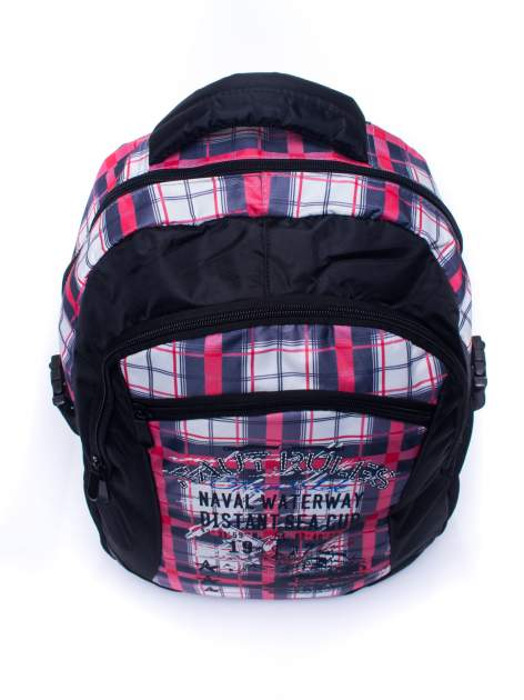 Czarny plecak szkolny DISNEY w kratę                                  zdj.                                  5