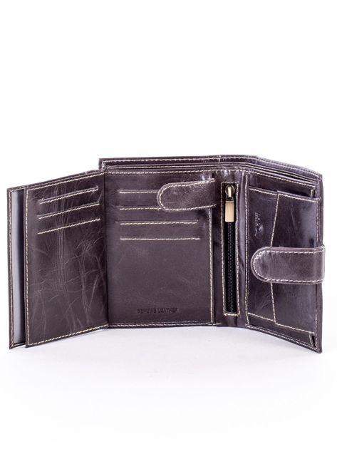 Czarny portfel dla mężczyzny z zapięciem na zatrzask                              zdj.                              6