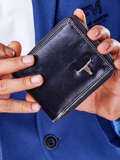 Czarny portfel męski na suwak                              zdj.                              7