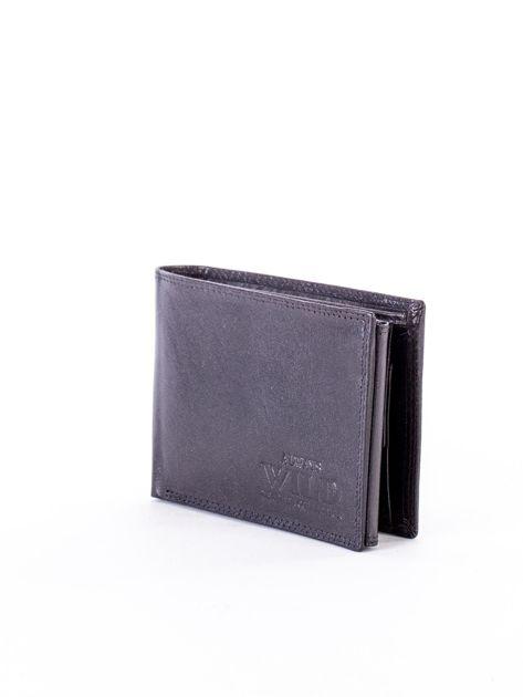 Czarny portfel męski z przetarciami                              zdj.                              3
