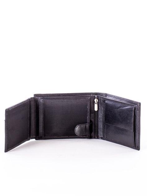 Czarny portfel męski z przetarciami                              zdj.                              5
