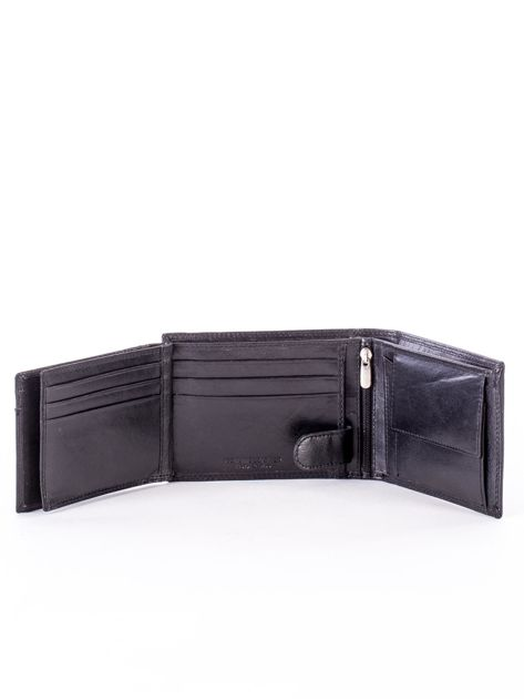 Czarny portfel męski z przetarciami                              zdj.                              6