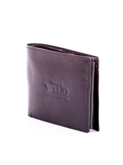 Czarny portfel męski ze skóry z tłoczeniem                              zdj.                              3