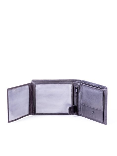 Czarny portfel skórzany z czerwonymi wstawkami                              zdj.                              5