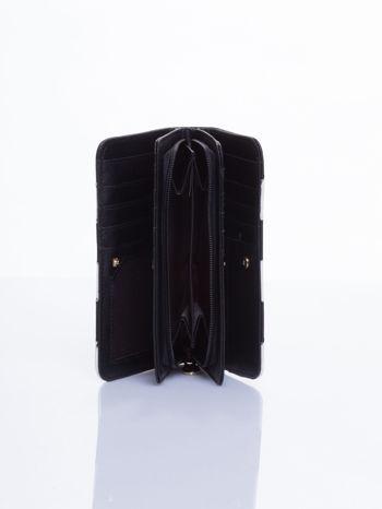 Czarny portfel w paski                                  zdj.                                  3