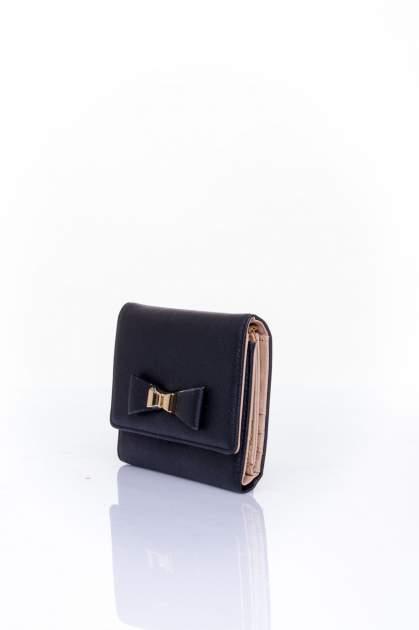 Czarny portfel z kokardką                                  zdj.                                  3