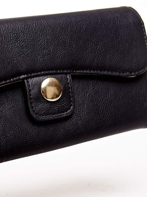 Czarny portfel z zapięciem na magnes                                  zdj.                                  6