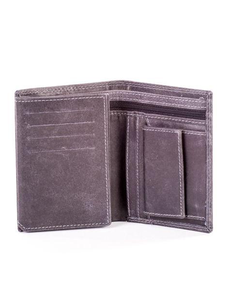 Czarny portfel ze skóry naturalnej                               zdj.                              4