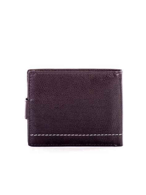 Czarny portfel ze skóry naturalnej na zatrzask                              zdj.                              2