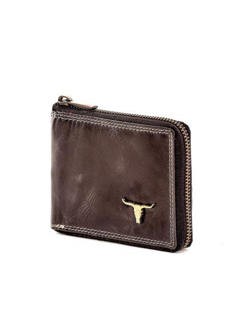 Czarny portfel ze skóry naturalnej z cieniowaniami                              zdj.                              3