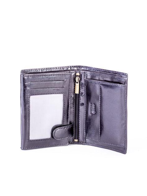 Czarny skórzany portfel                               zdj.                              4