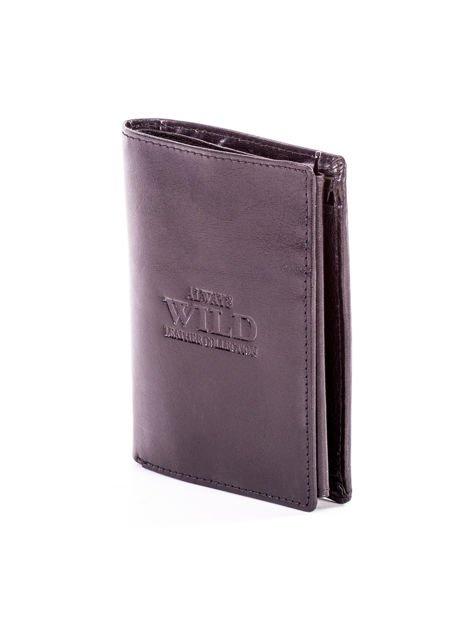Czarny skórzany portfel dla mężczyzny z tłoczeniem                              zdj.                              3