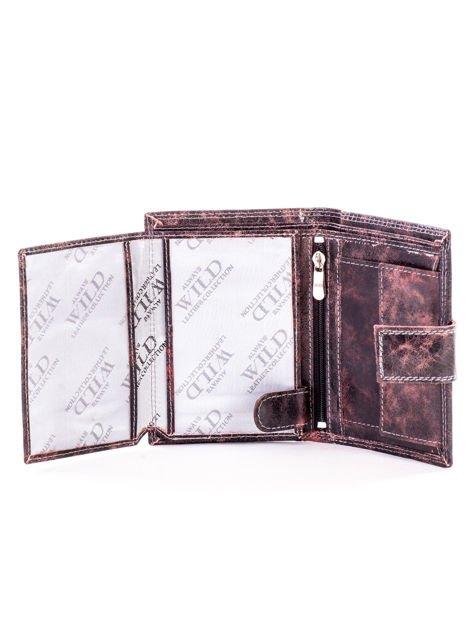 Czarny skórzany portfel dla mężczyzny z zapięciem                              zdj.                              5