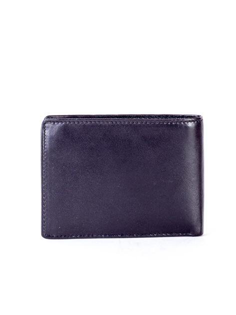 Czarny skórzany portfel męski z tłoczeniem                              zdj.                              2