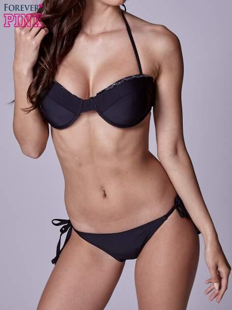 Czarny stanik od bikini wiązany na szyi                                  zdj.                                  2