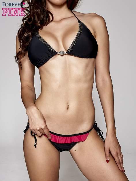 Czarny stanik od bikini z biżuteryjnym zdobieniem                                  zdj.                                  3
