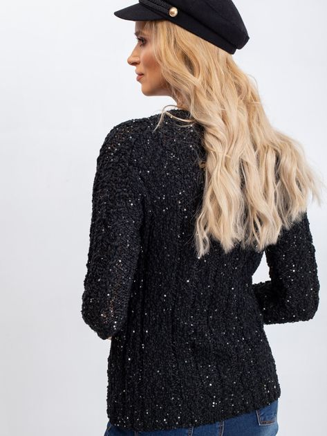 Czarny sweter Attractive                              zdj.                              2