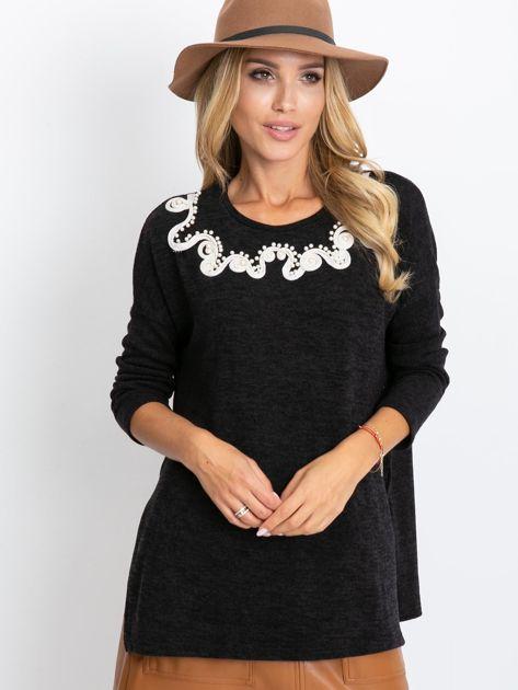 Czarny sweter Couple                              zdj.                              1