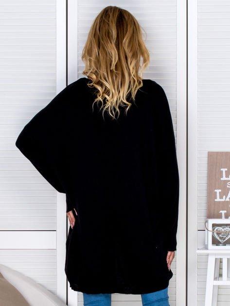 Czarny sweter oversize                                   zdj.                                  2