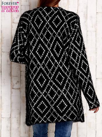 Czarny sweter z geometrycznymi motywami                                  zdj.                                  4