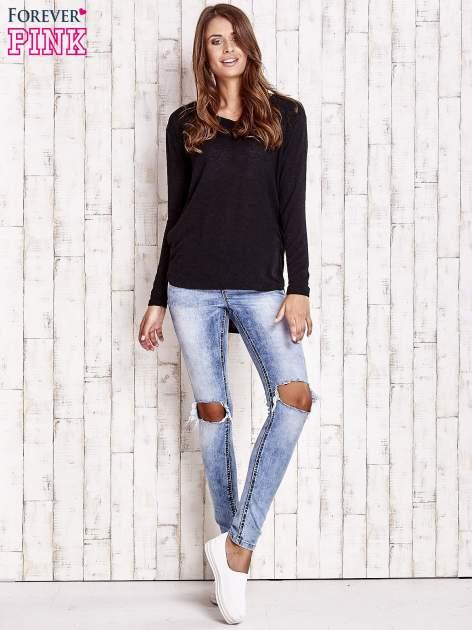 Czarny sweter z kapturem                                  zdj.                                  4