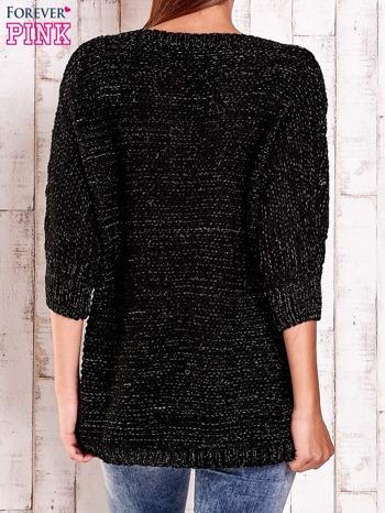 Czarny sweter z metaliczną nicią FUNK N SOUL                                  zdj.                                  3
