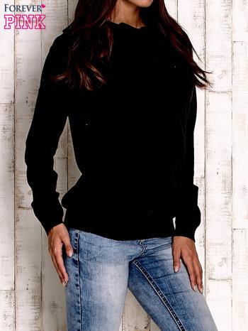 Czarny sweter z szerokim golfem                                  zdj.                                  3