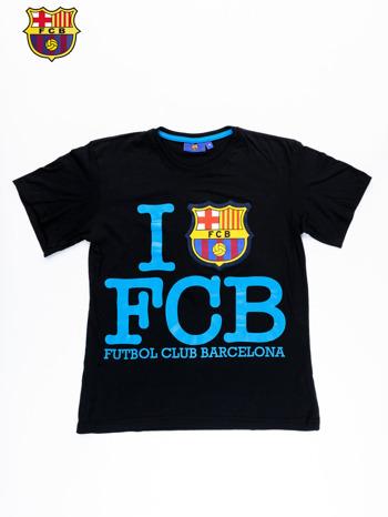 Czarny t-shirt męski FC BARCELONA                                  zdj.                                  10