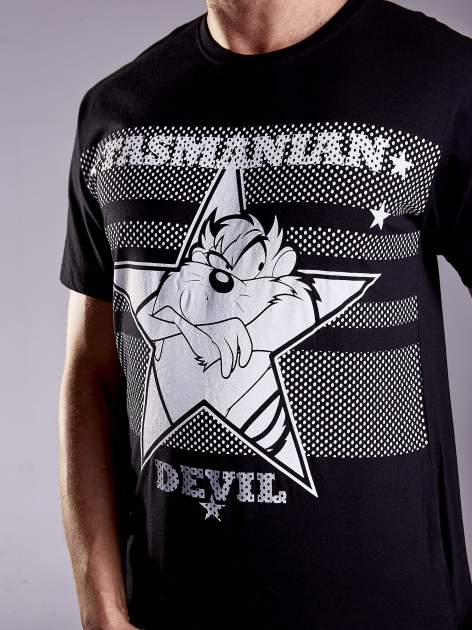 Czarny t-shirt męski LOONEY TUNES                                  zdj.                                  7