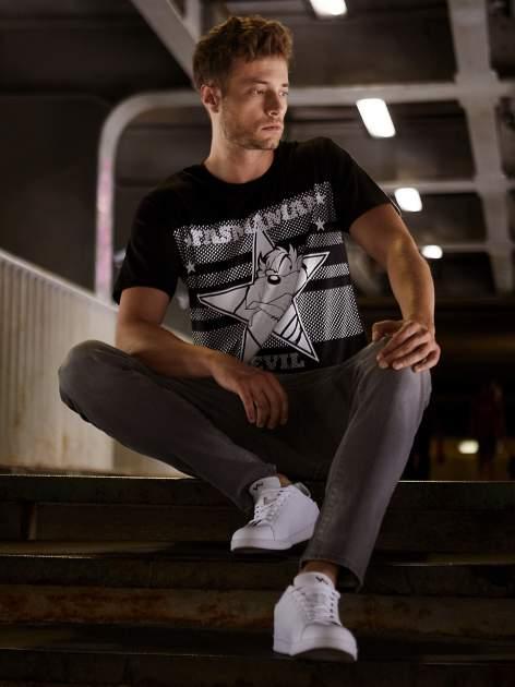 Czarny t-shirt męski LOONEY TUNES                                  zdj.                                  1