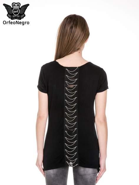 Czarny t-shirt z metalicznym napisem I HEARD THAT YOU LIKE BAD GIRLS                                  zdj.                                  4