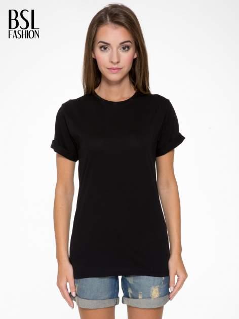 Czarny t-shirt z nadrukiem numerycznym AZZEDINE 40 z tyłu                                  zdj.                                  1