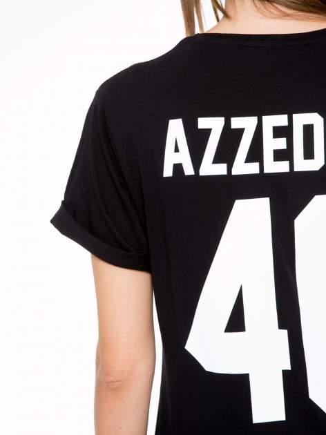 Czarny t-shirt z nadrukiem numerycznym AZZEDINE 40 z tyłu                                  zdj.                                  7