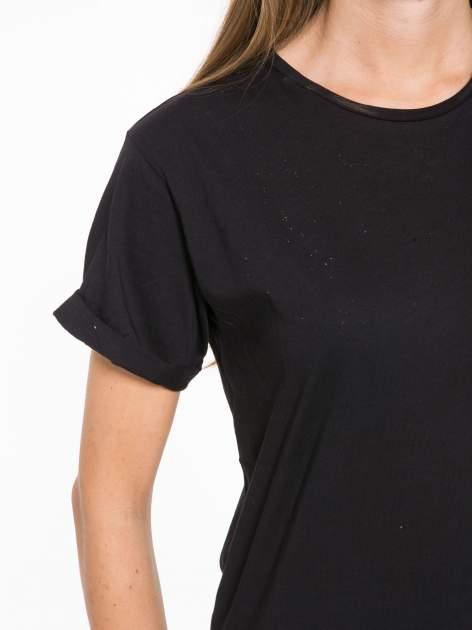 Czarny t-shirt z napisem MARGIELA 47 na plecach                                  zdj.                                  7