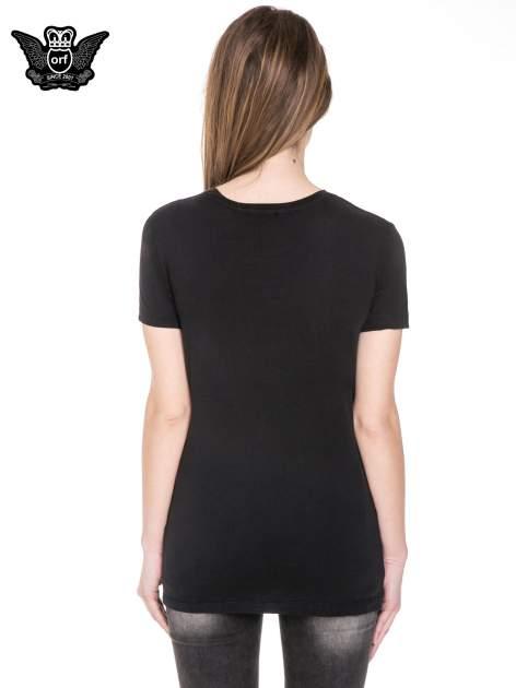 Czarny t-shirt z napisem NEW YORK z cekinami                                  zdj.                                  4
