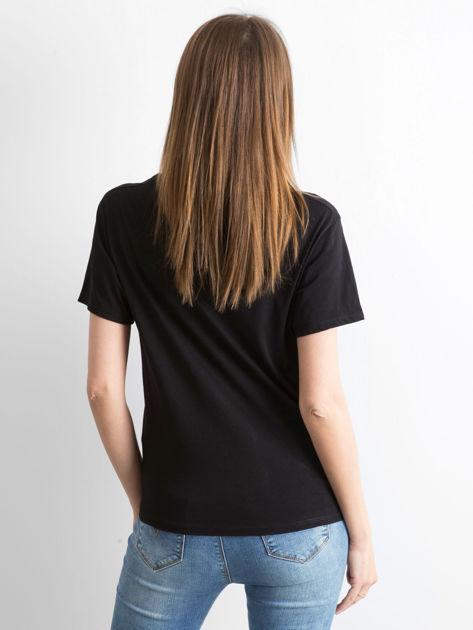 Czarny t-shirt Hoppin                              zdj.                              2