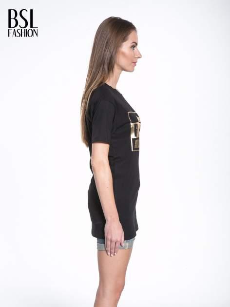 Czarny t-shirt ze złotym nadrukiem HOMIES SOUTH CENTRAL                                  zdj.                                  3