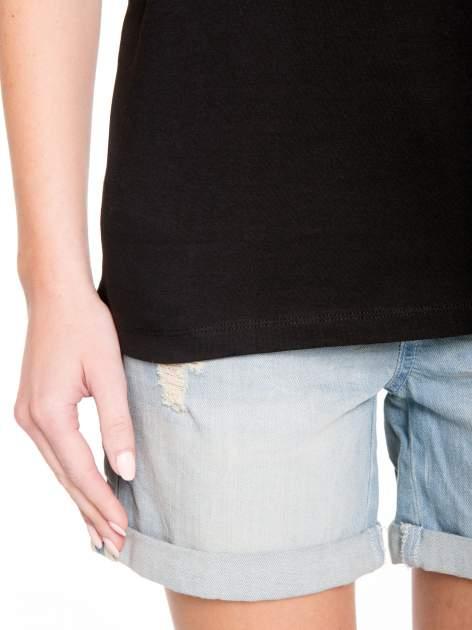 Czarny t-shirt ze złotym nadrukiem orła i napisem BOY LONDON                                  zdj.                                  10