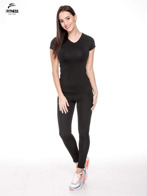 Czarny termoaktywny t-shirt sportowy typu basic ♦ Performance RUN                                  zdj.                                  2