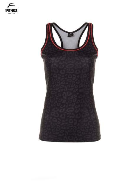 Czarny termoaktywny top sportowy w panterkę z fluoróżową wstawką ♦ Performance RUN                                  zdj.                                  5