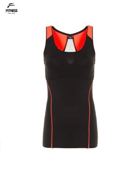 Czarny termoaktywny top sportowy z siateczką z tyłu i fluoróżowymi wstawkami ♦ Performance RUN                                  zdj.                                  2