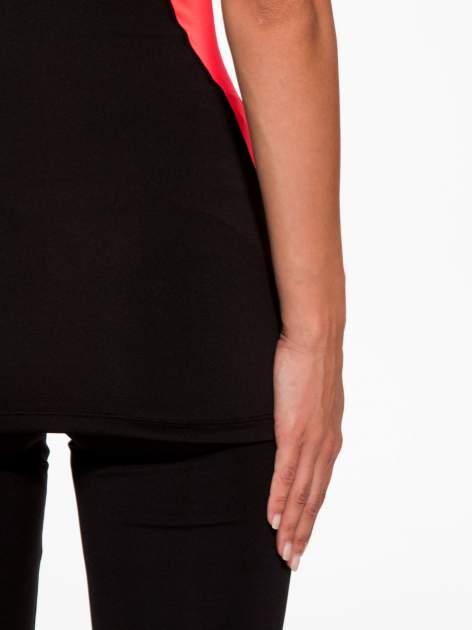Czarny termoaktywny top sportowy z siateczką z tyłu i fluoróżowymi wstawkami ♦ Performance RUN                                  zdj.                                  9