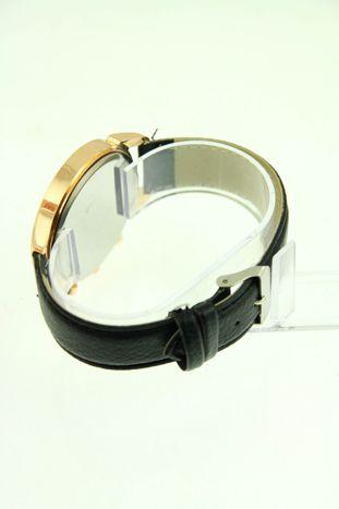 Czarny zegarek damski na skórzanym pasku                                  zdj.                                  3
