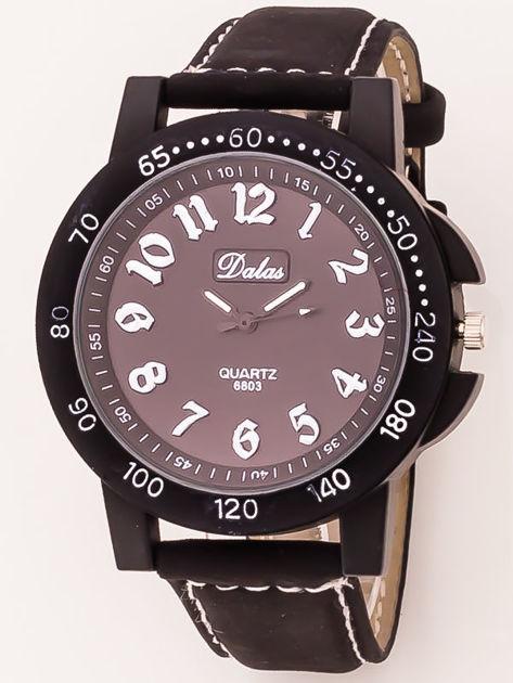 Czarny zegarek męski                              zdj.                              1