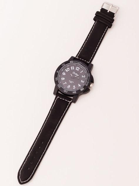 Czarny zegarek męski                              zdj.                              2