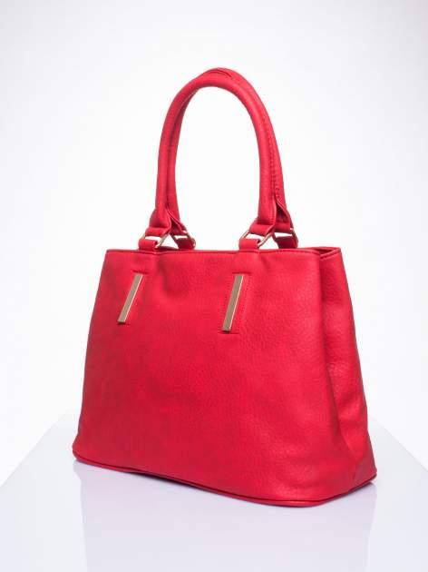 Czarwona torba miejska na ramię                                  zdj.                                  3