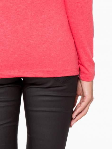 Czerwona basicowa bluzka z długim rękawem                                  zdj.                                  8