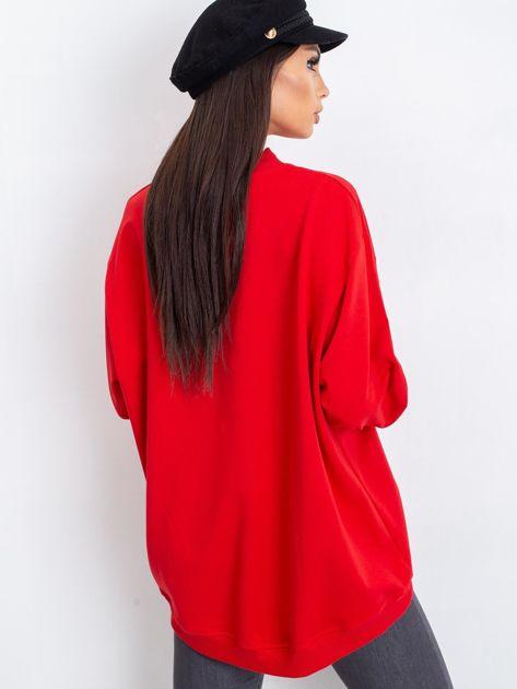 Czerwona bluza Twist                              zdj.                              2
