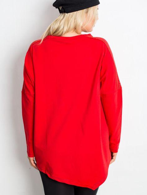 Czerwona bluza plus size Lounge                              zdj.                              2