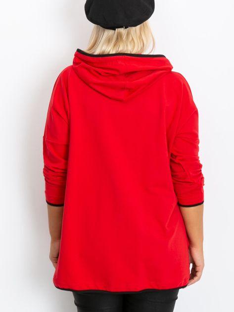 Czerwona bluza plus size Skip                              zdj.                              2